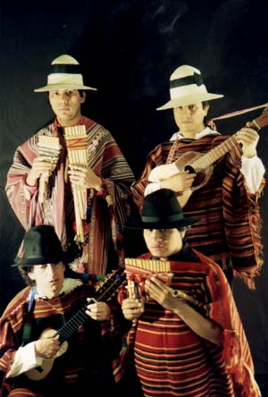 UK Peruvian Panpipe band of the Andes